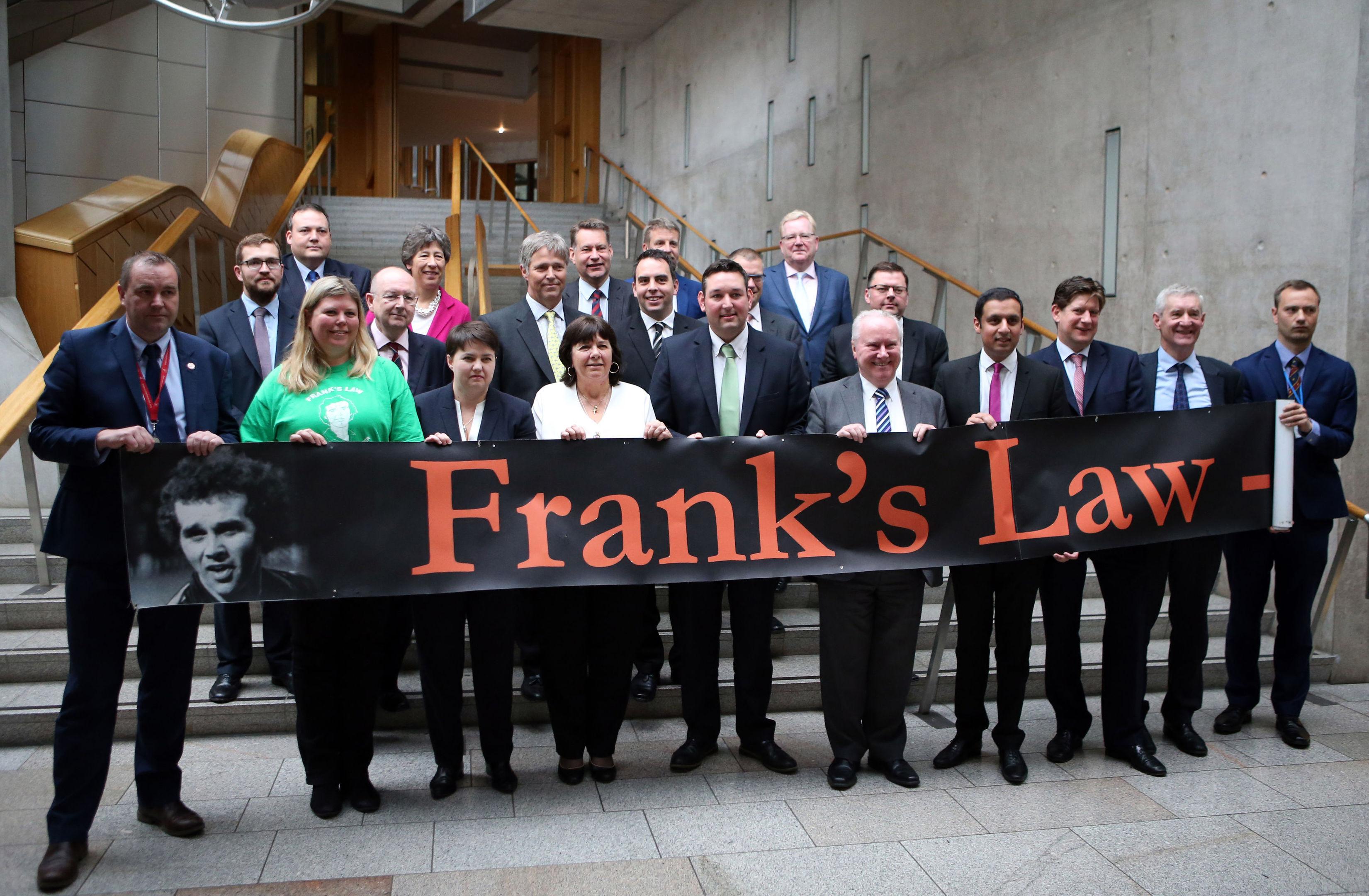 MSPs join Amanda Kopel a Frank's Law bill is lodged at Holyrood
