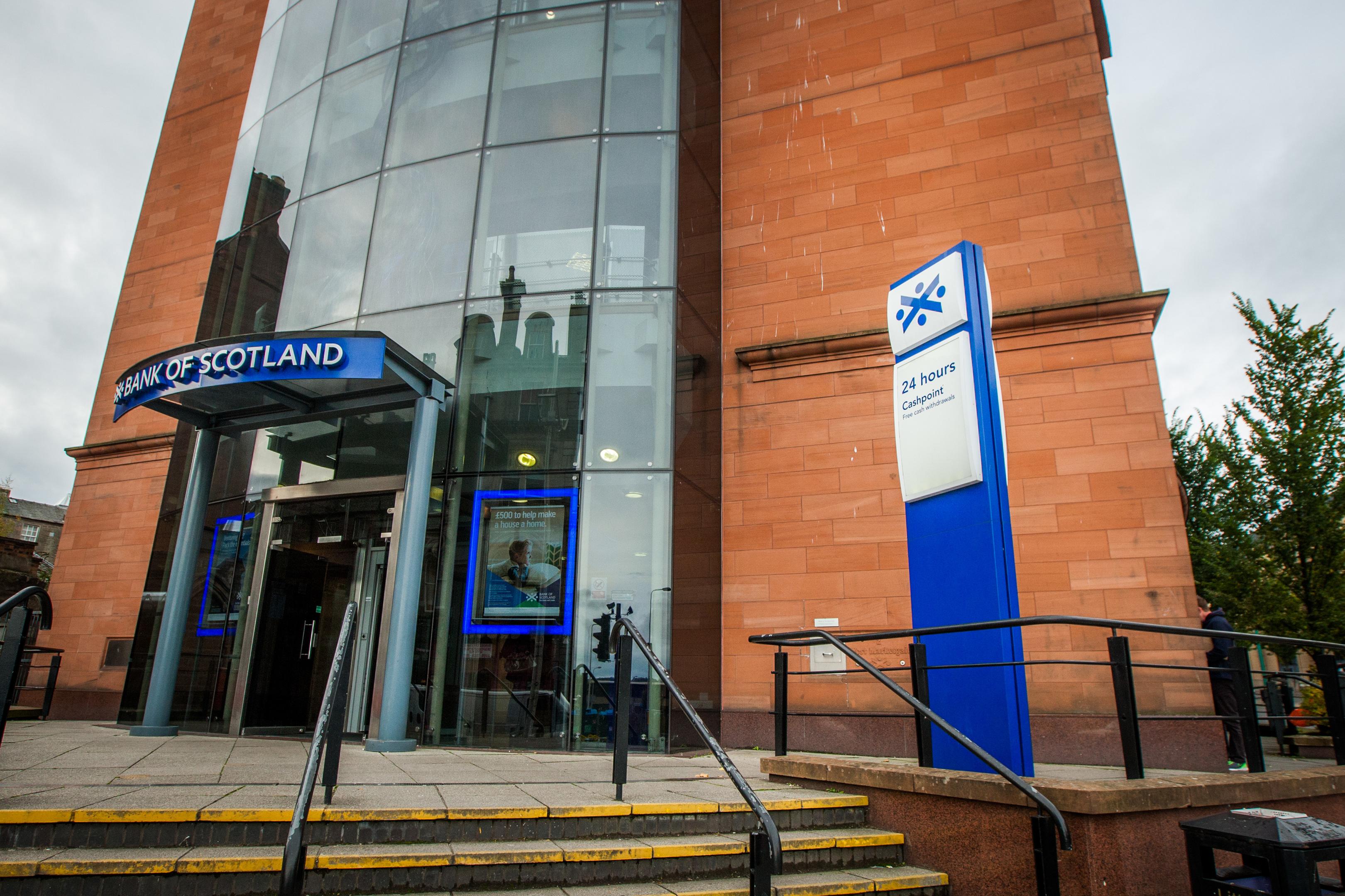 The Bank of Scotland branch in Marketgait.
