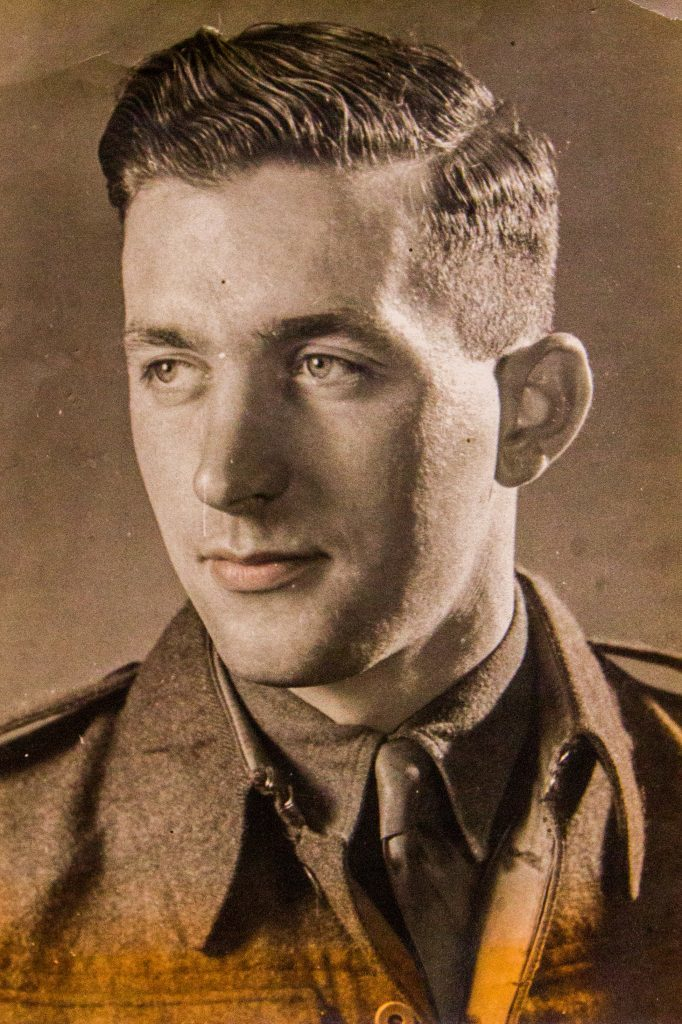 Reg McDonnell in his army days.
