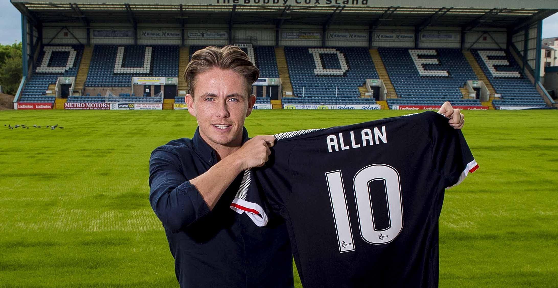 New Dundee signing Scott Allan.