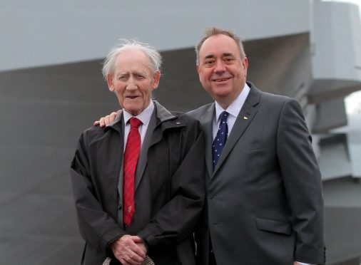 Robert Salmond with his son, Alex