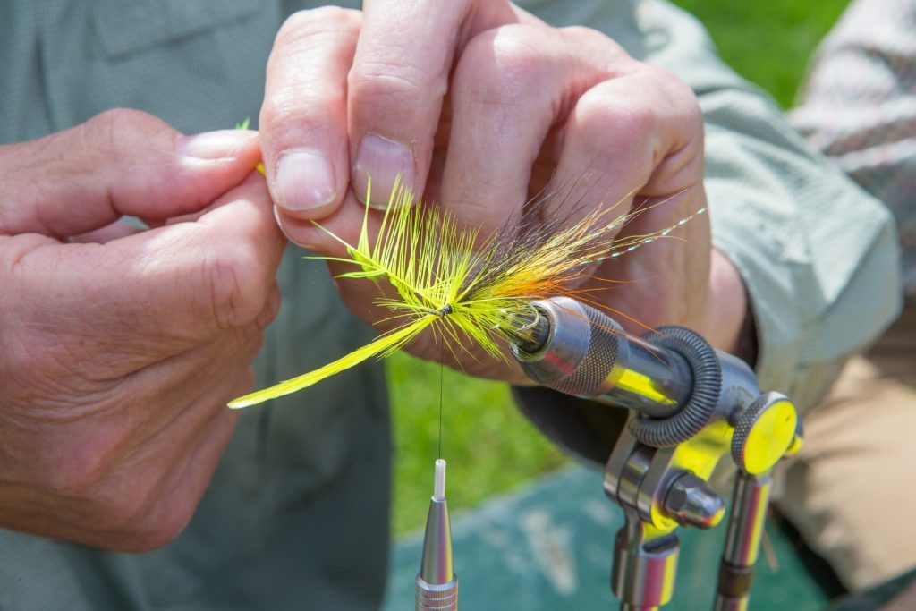 Fly tying is an intricate business.