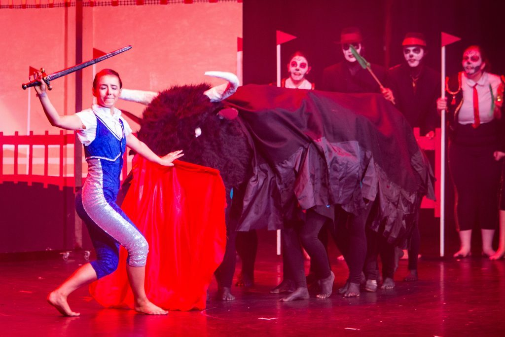 """""""Day of the Dead"""" is performed on stage as part of the Rock Challenge."""