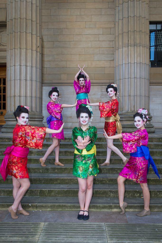 Geisha Girls from Fraserburgh Academy.
