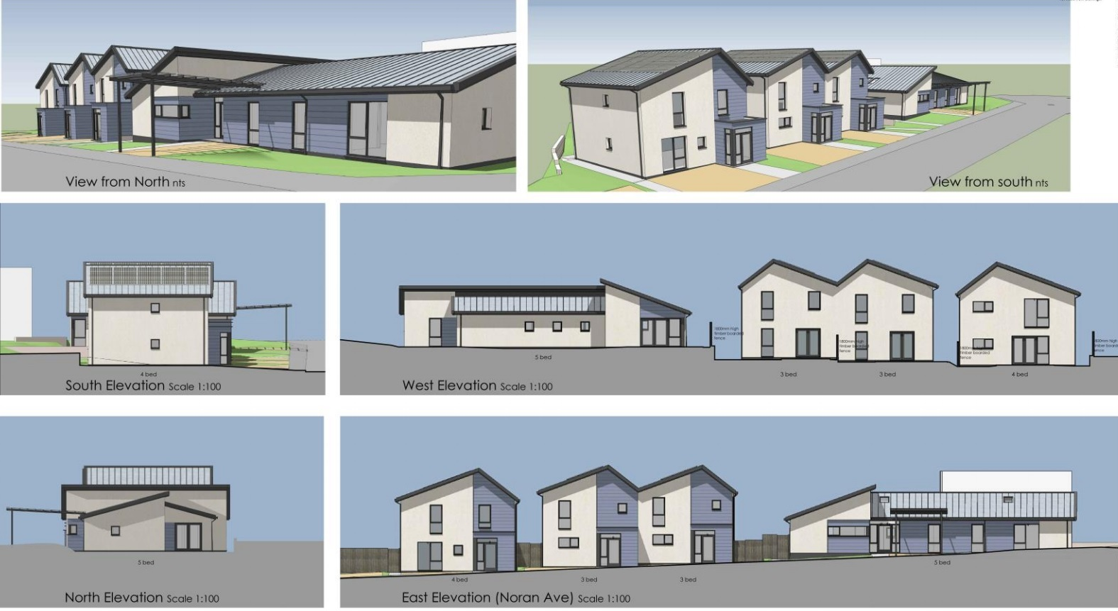 The plans for the four new homes in Noran Avenue, Arbroath