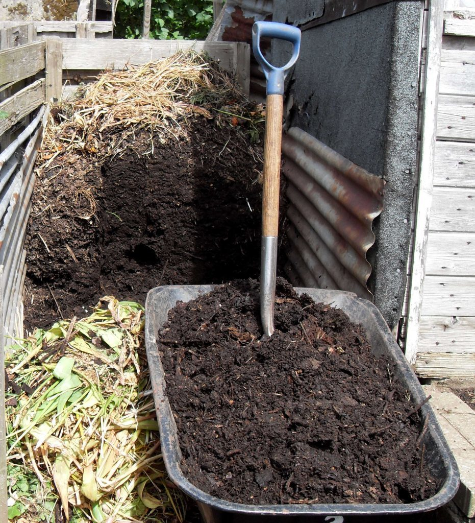 Six month old compost ready to use