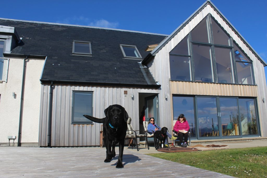Stac Polly Cottage with Toby, Gayle, Cody and Gayle's mum.
