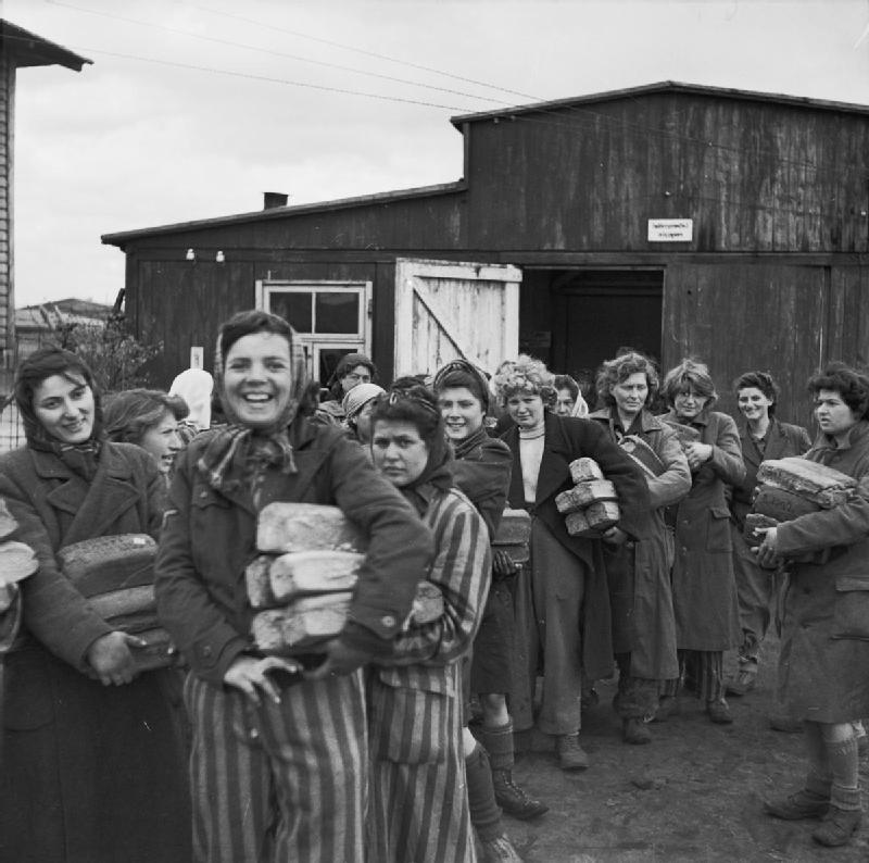 Women survivors in Bergen-Belsen, April 1945