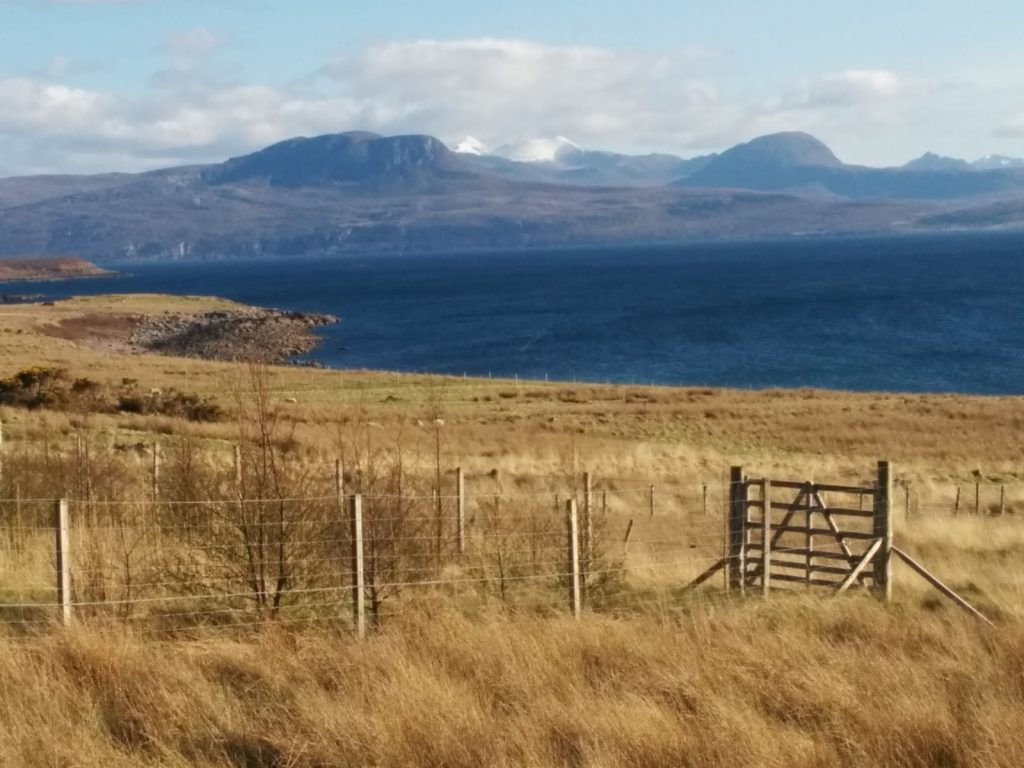 View from Achiltibuie across to An Teallach.