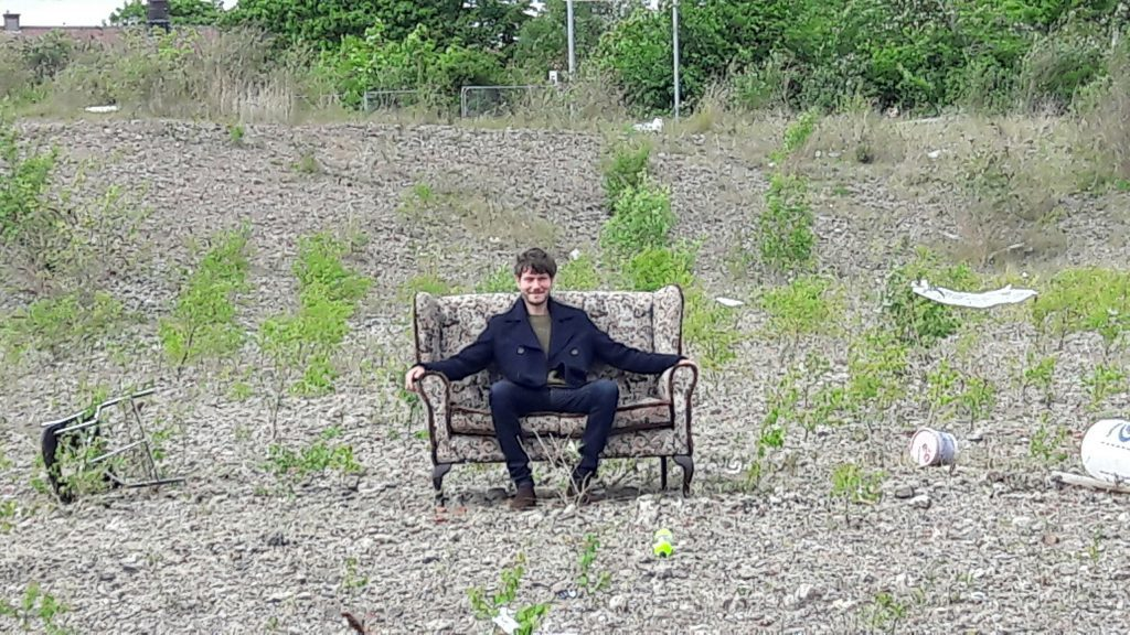 'Jack', played by Max Raskin, on the waste ground at Kingsway East