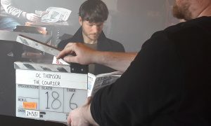 Lights, camera, action! Behind the scenes of a new cinema advert for The Courier