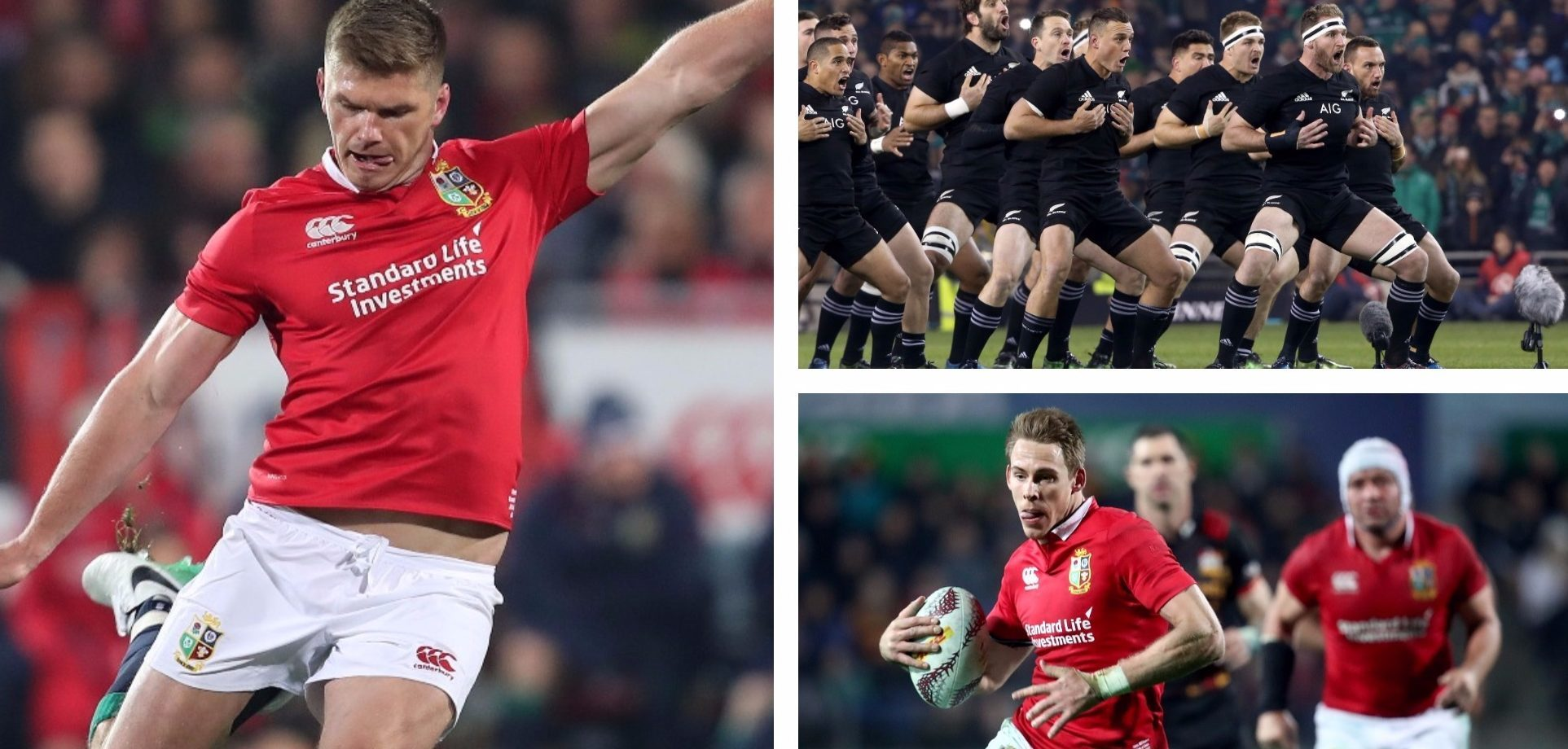 The Lions will face off against the All Blacks tomorrow.