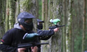 VIDEO: Paintballing pleasure (and a bit of pain)
