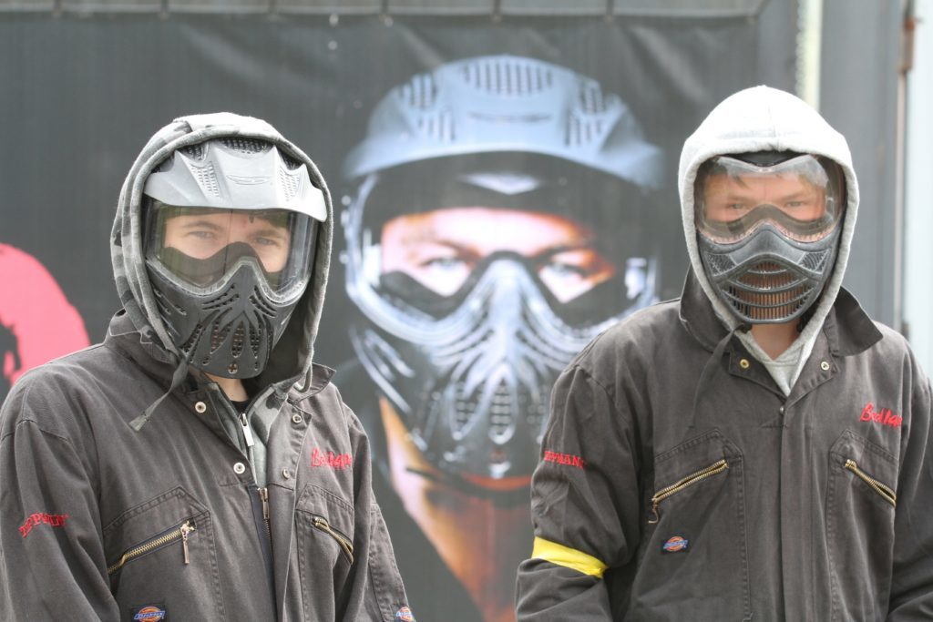 You've got to be tough to play paintball (at least, that's what these players reckon).