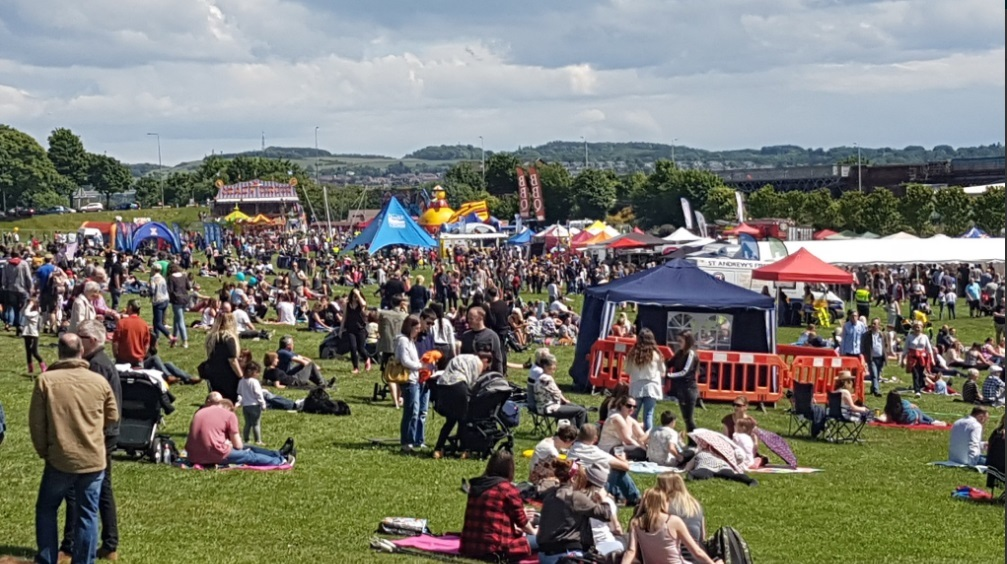 Thousands attended Westfest on Sunday.