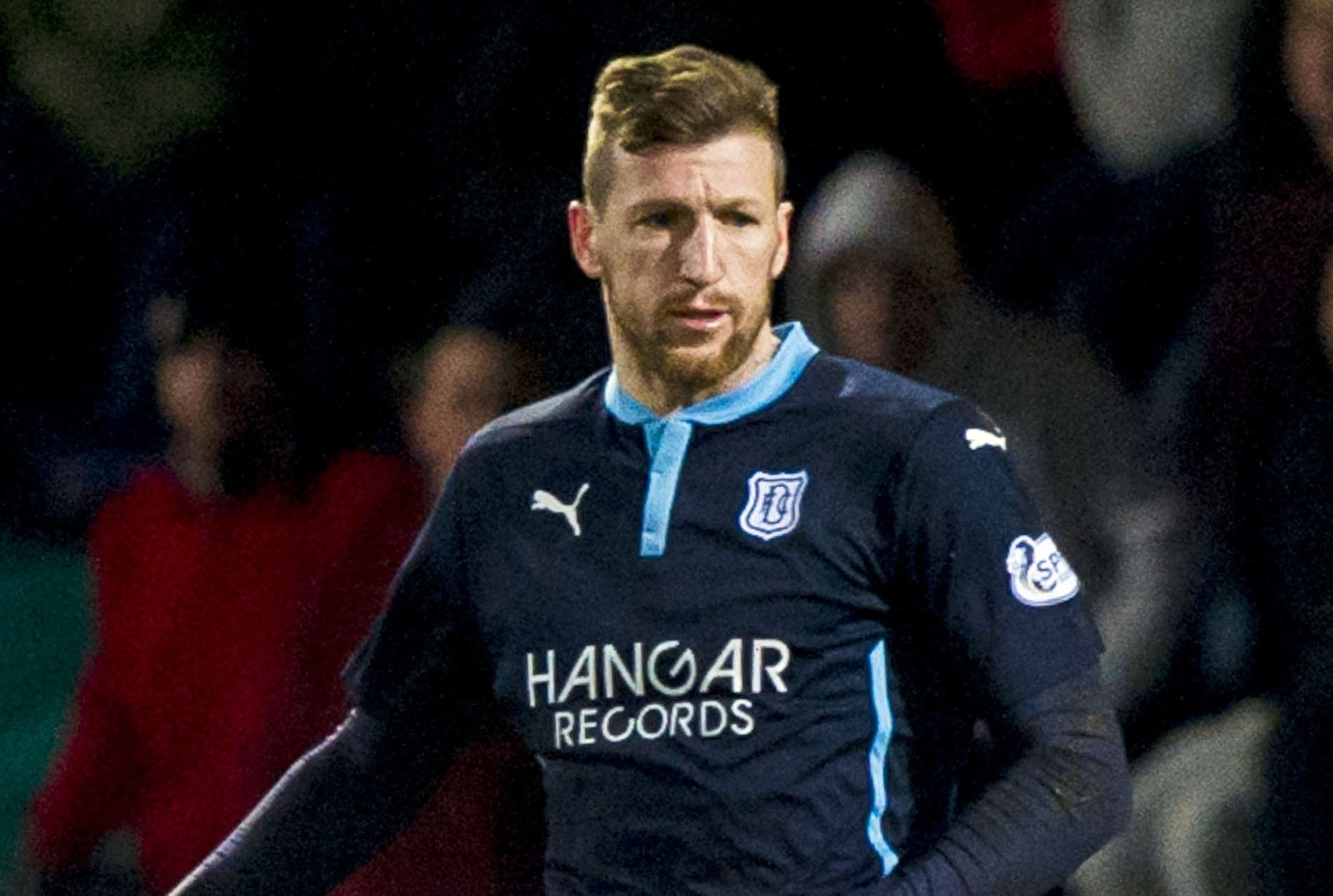 Iain Davidson in action for Dundee.