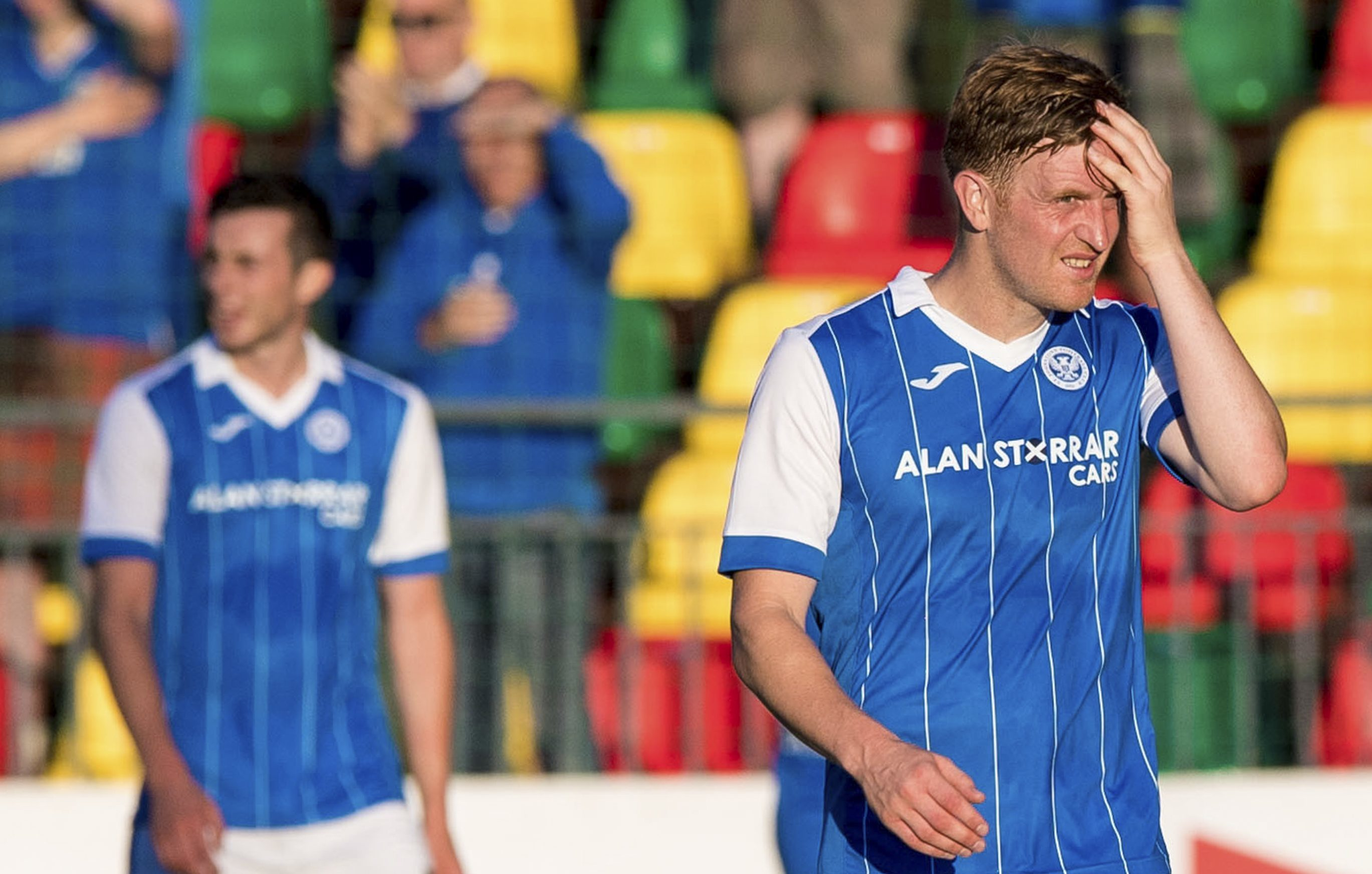 Liam Craig is a dejected man after the game.