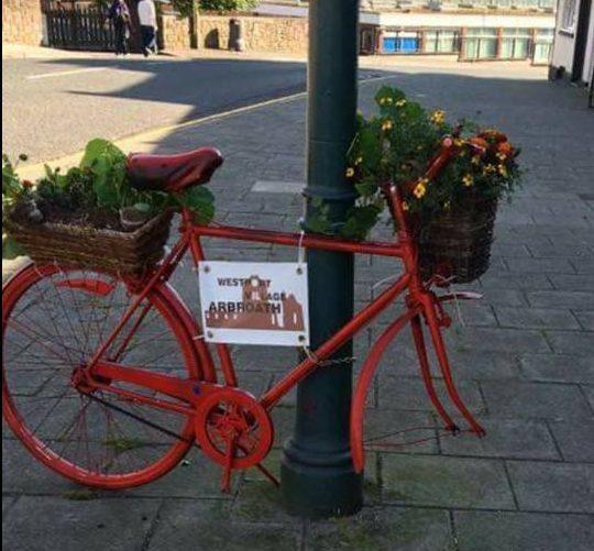 The bike that was vandalised.