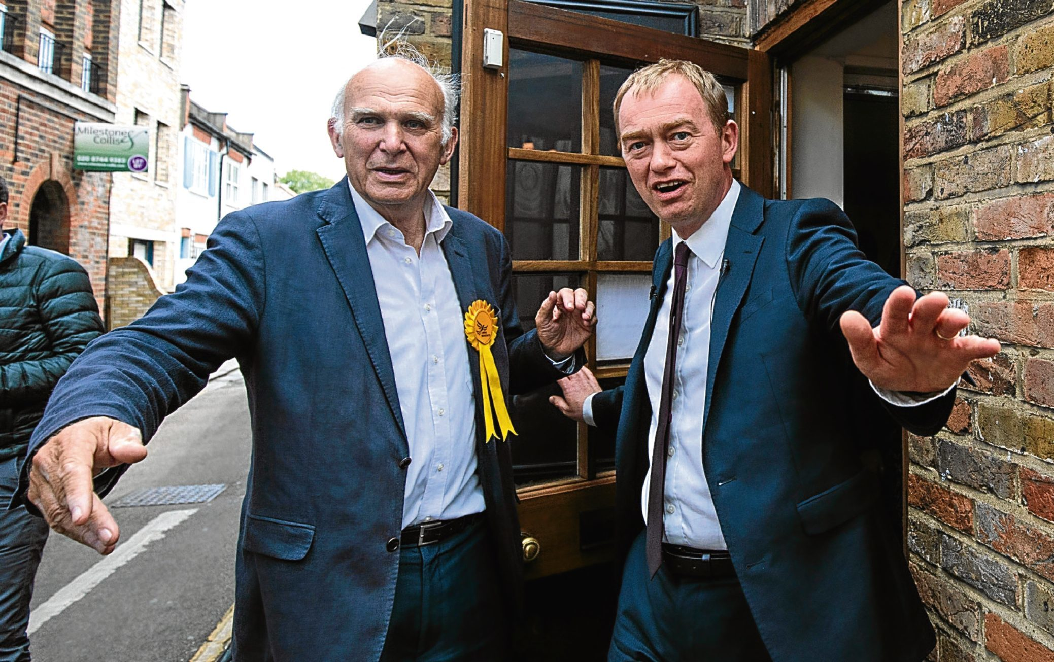 Vince Cable and Tim Farron campaigning during the General Election.