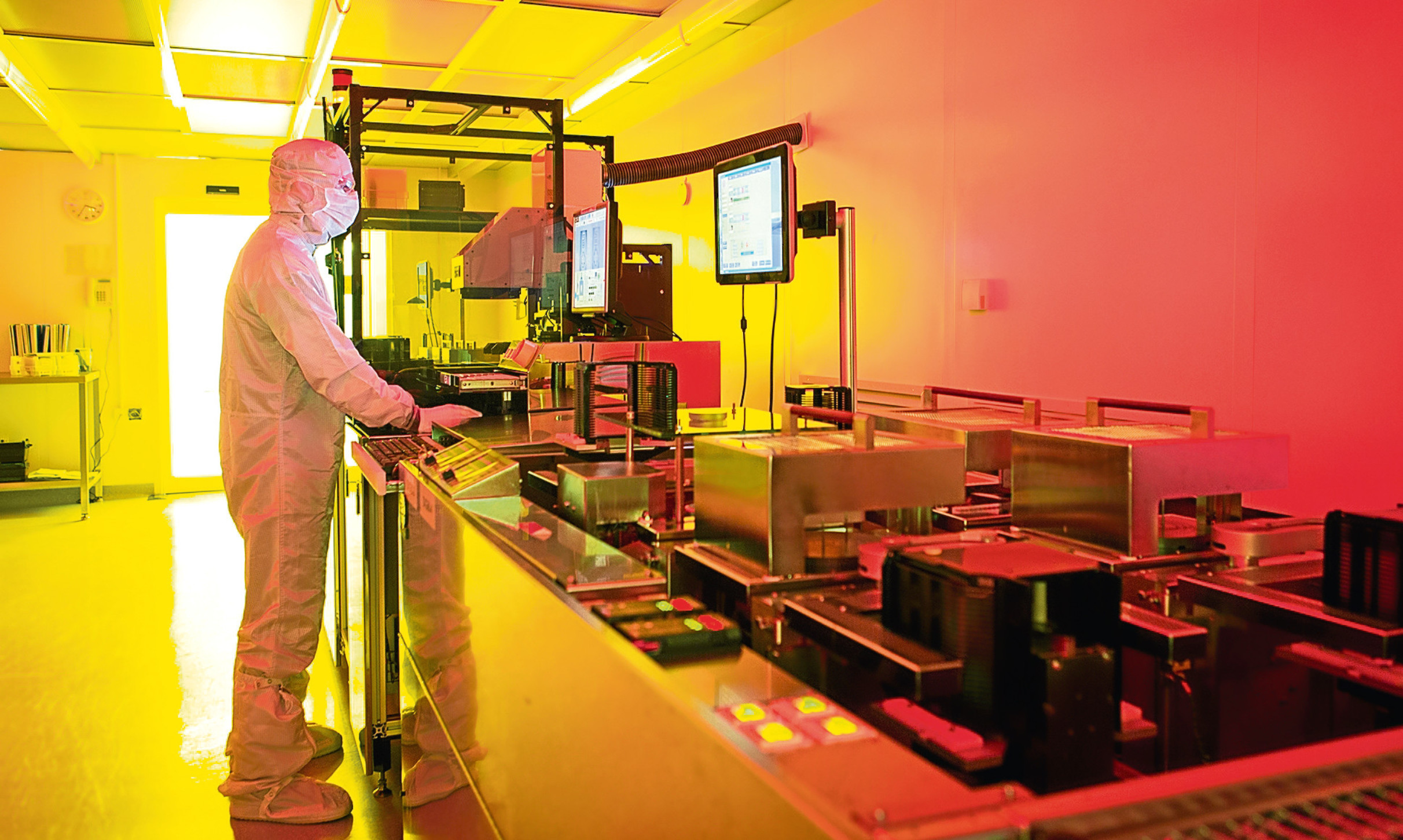A worker at Semefab's Glenrothes facility