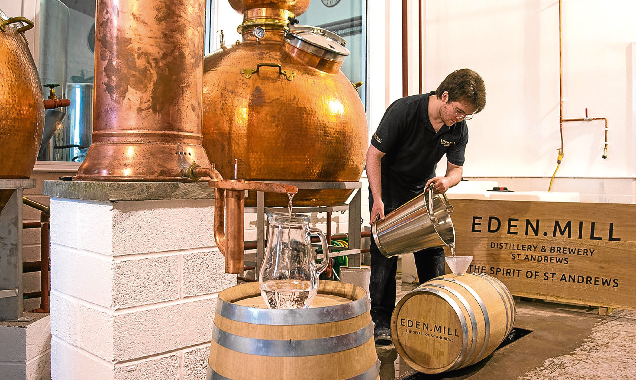 Eden Mill produces a range of drinks from craft beers to gin and whisky