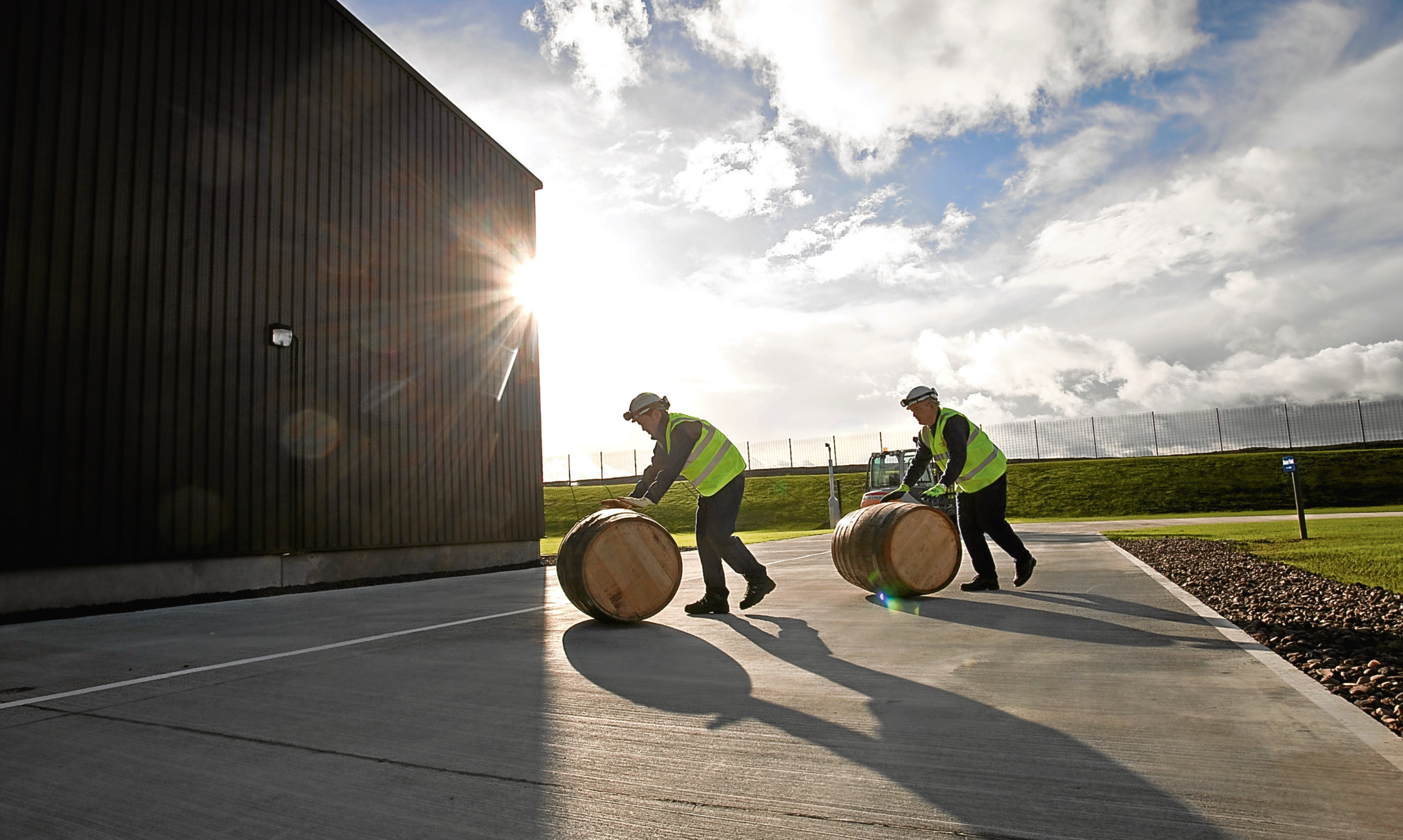 Whisky being laid down to mature at Diageo's Cluny bond near Kirkcaldy