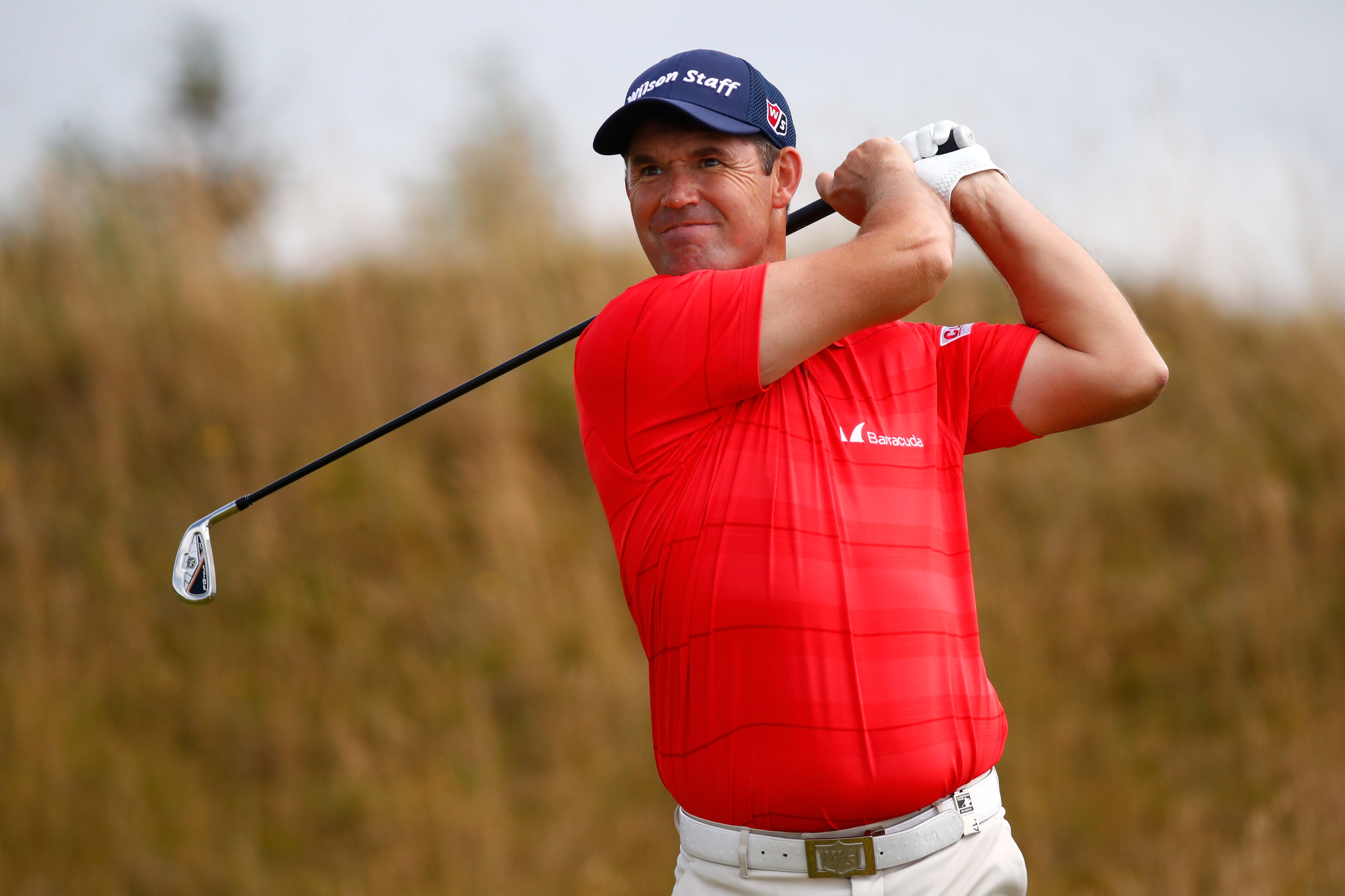 Padraig Harrington believes the Dundonald's 90 per cent of links is better than no links at all.