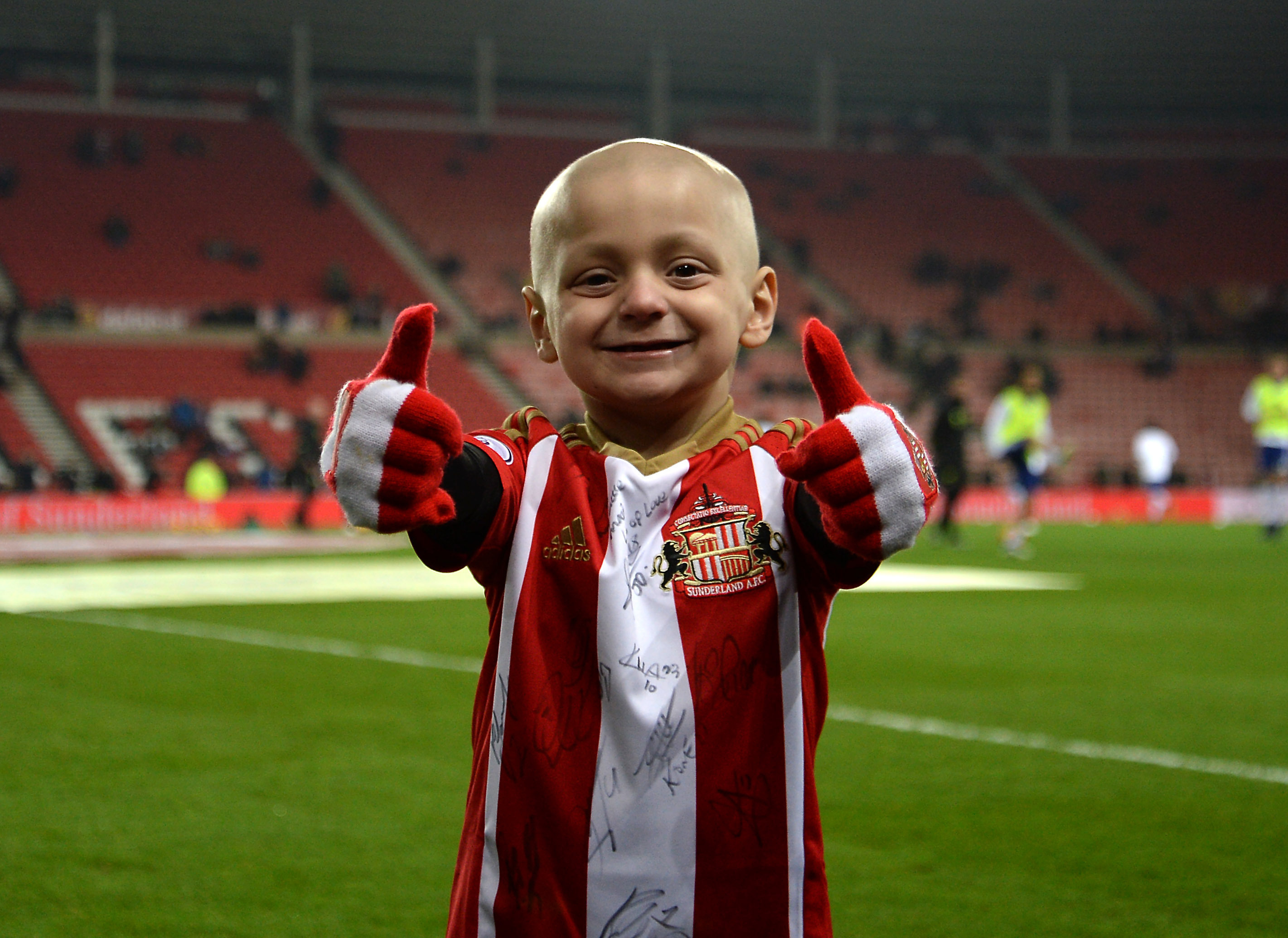 Bradley Lowery, the six-year-old football mascot.