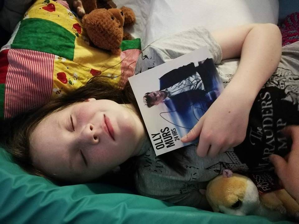 Emma Pollock with her signed photograph of Olly Murs