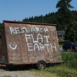 Flat earth believers mark signs along length of A9 in Highland Perthshire