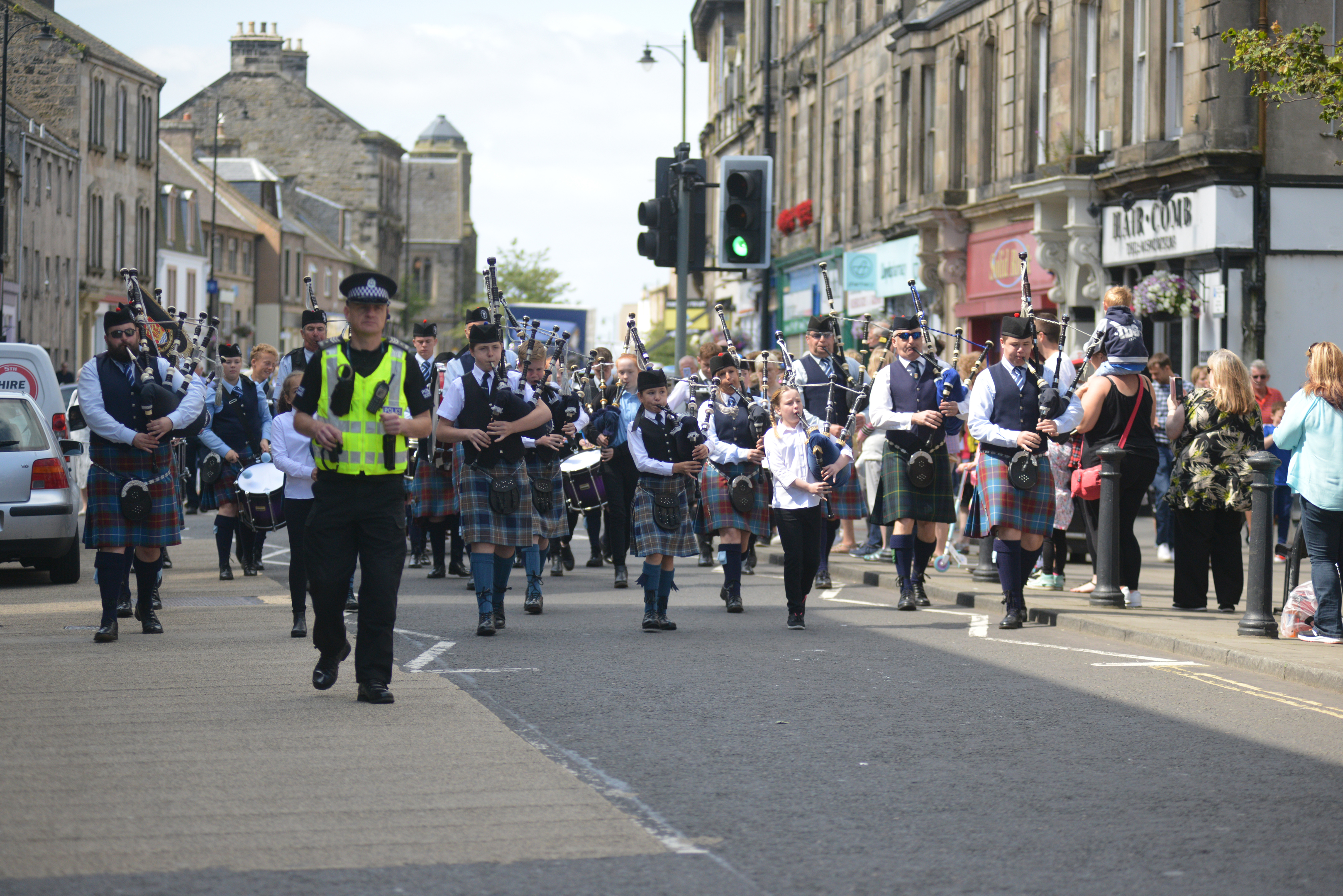 The event started with a parade from the Burgh Chambers.