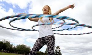 VIDEO: Hula hoop expert Chloe is the lady of the rings