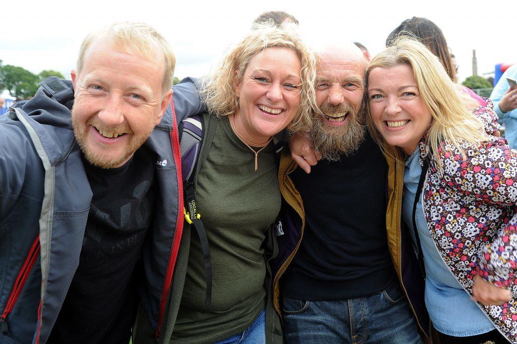 Colin Wilkie, Katie Voigt, Steven Burnett and Kath Heenan from Arbroath