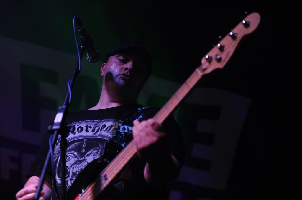 Cherry Bombz on stage,