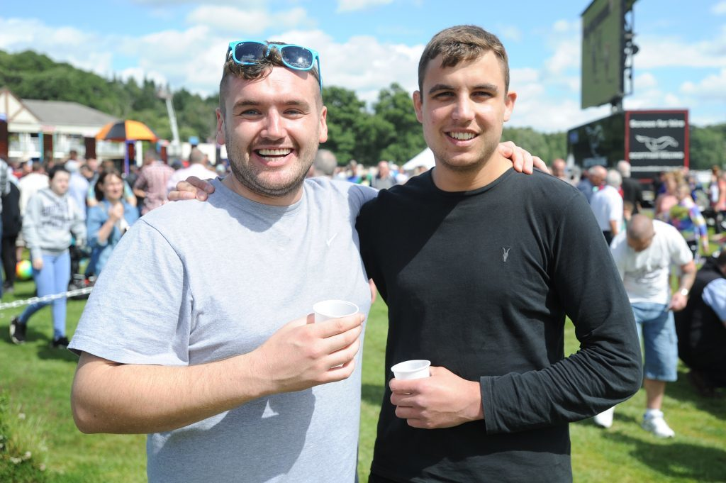 Lewis Ross and Stuart Spalding enjoying their day.