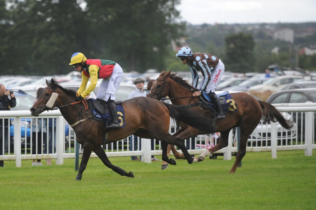 Action from the third race.