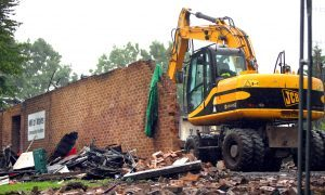 VIDEO: Demolition begins on Mill O' Mains community pavilion
