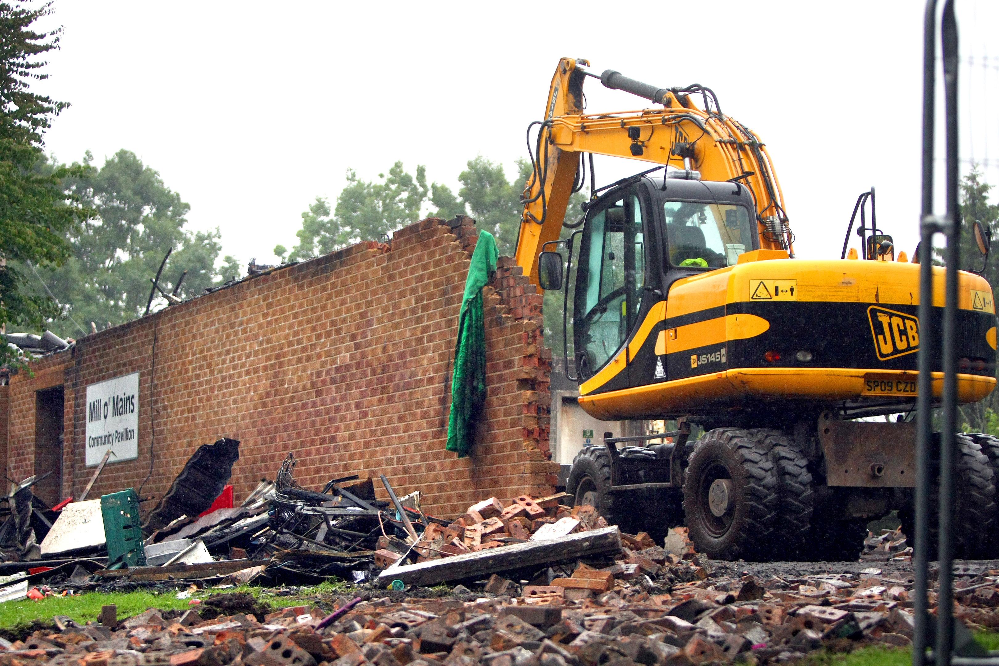 Demolition is already well under way.