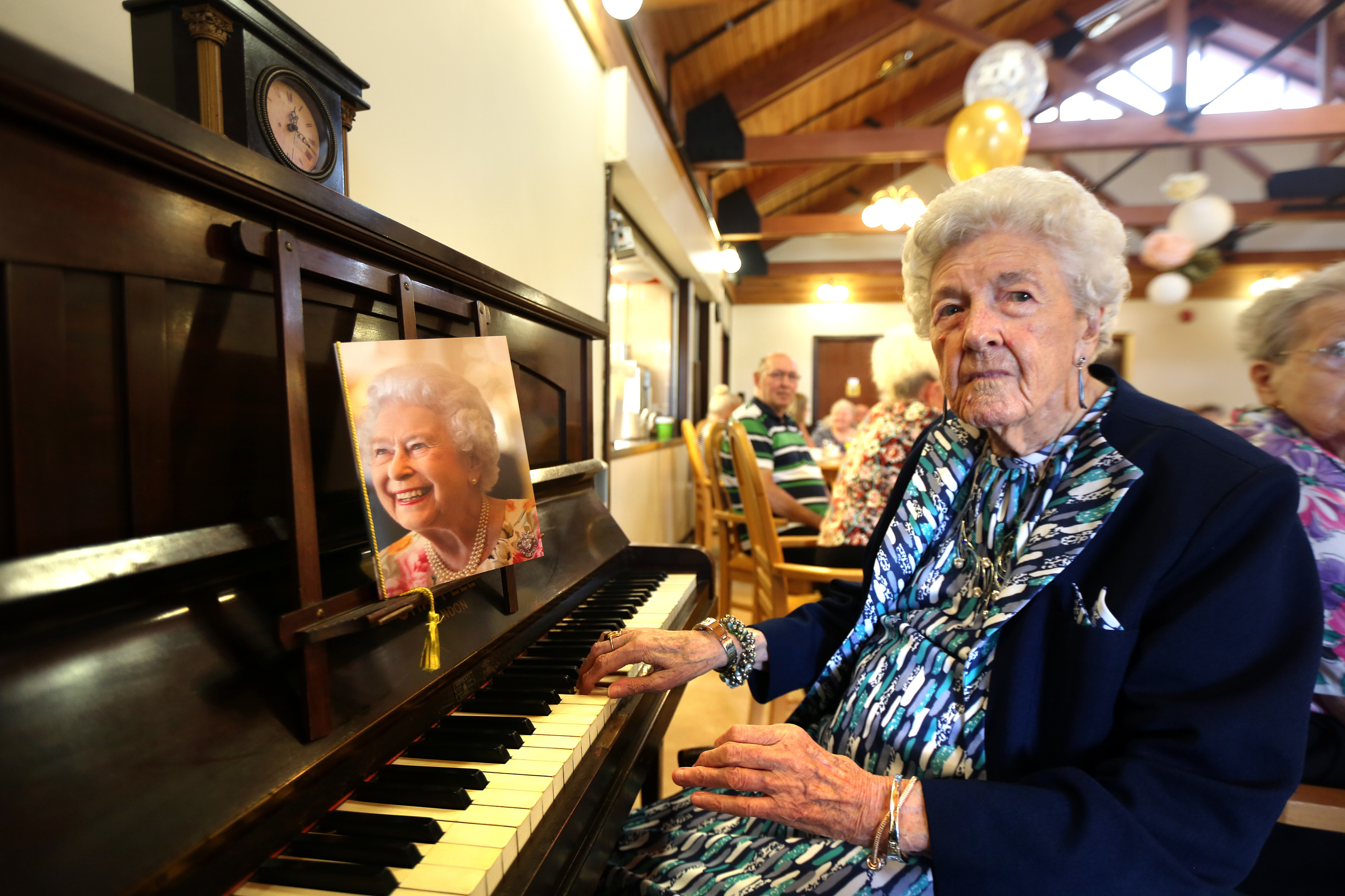 Agnes (Nessie) Manzie celebrating her 100th Birthday at Seaton Grove Care Centre in Arbroath