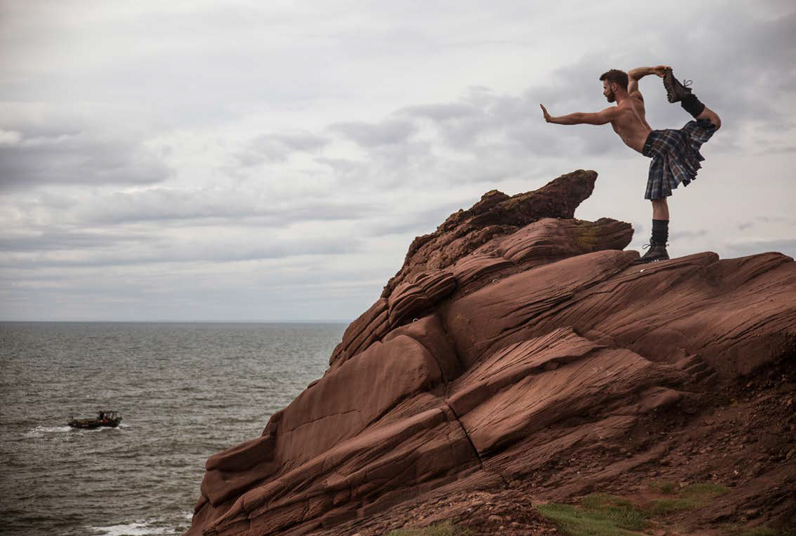The book features images from all over Scotland, including Arbroath cliffs.