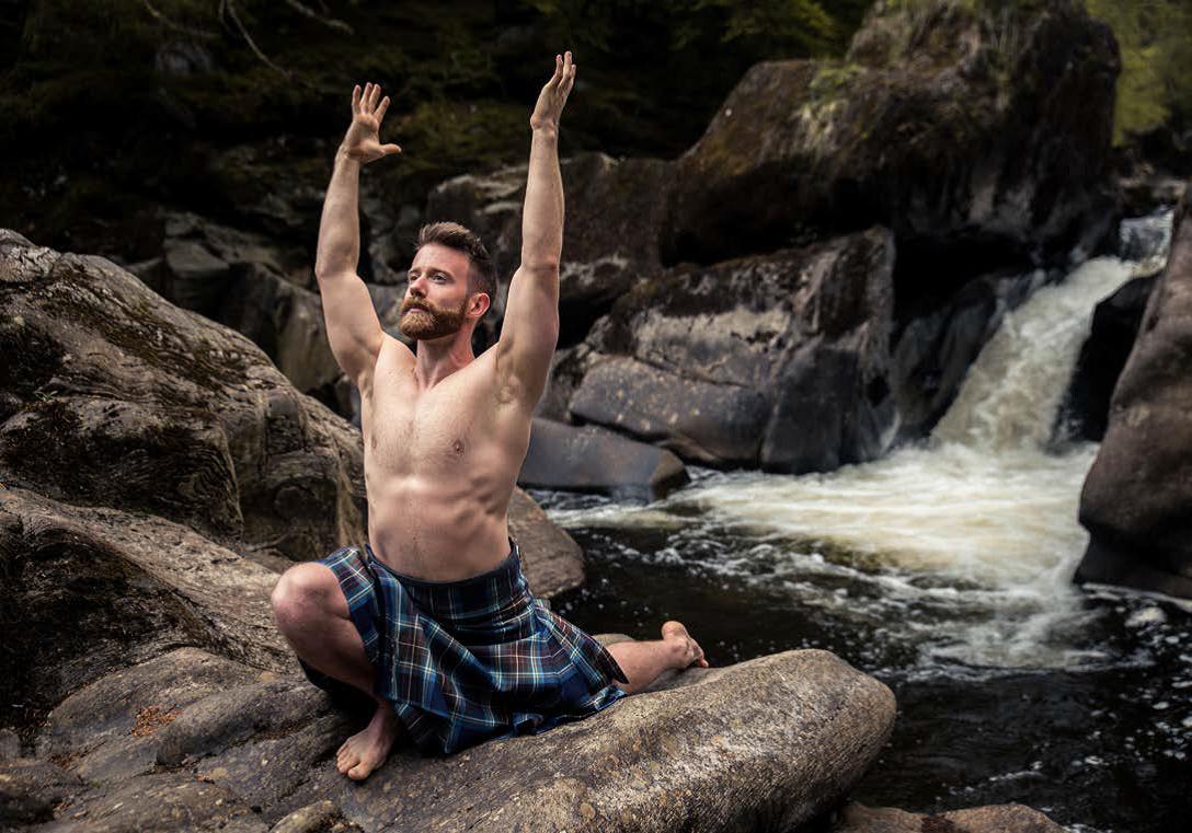 Yoga instructor Finlay Wilson