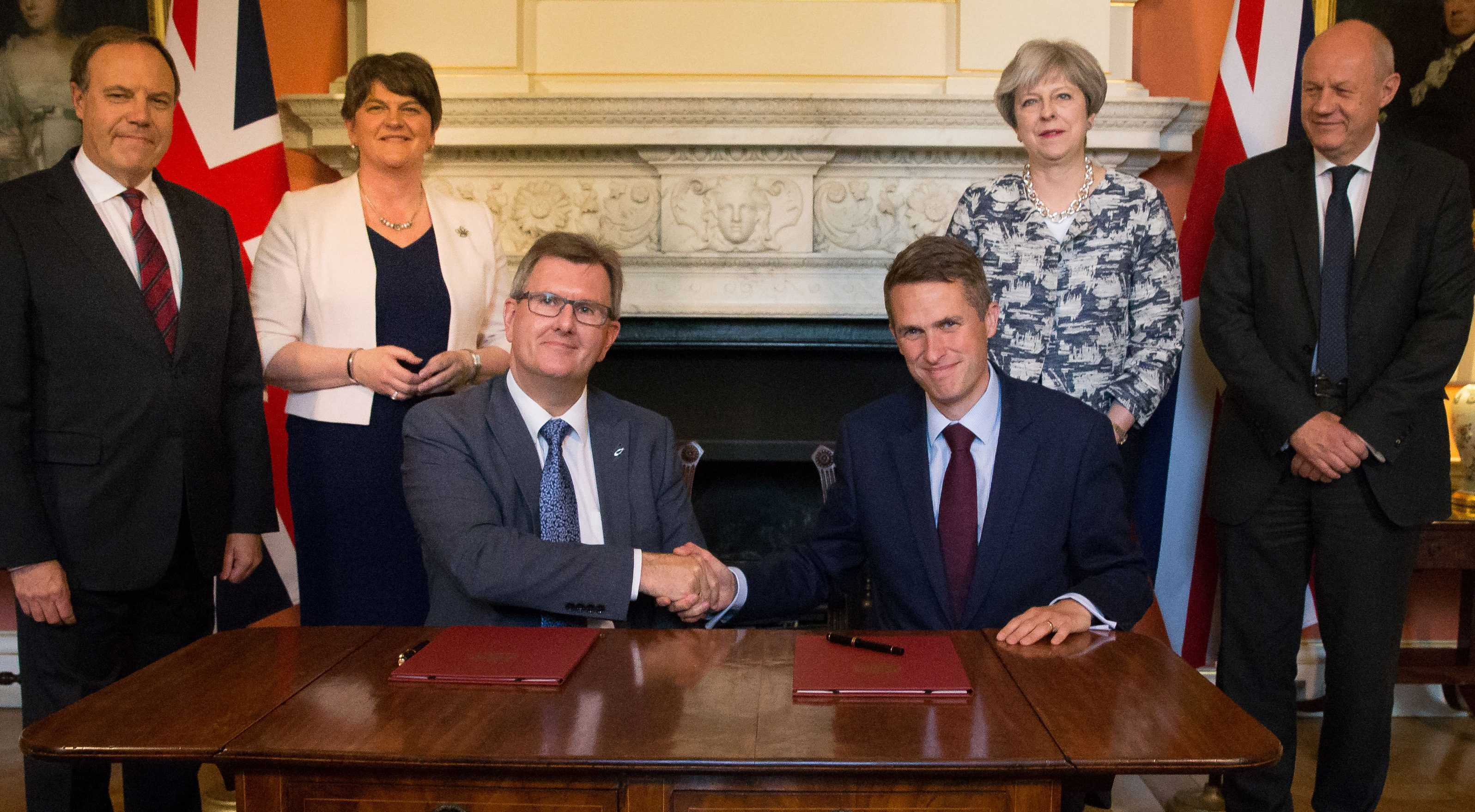The DUP agreed a deal to support the minority Conservative government.
