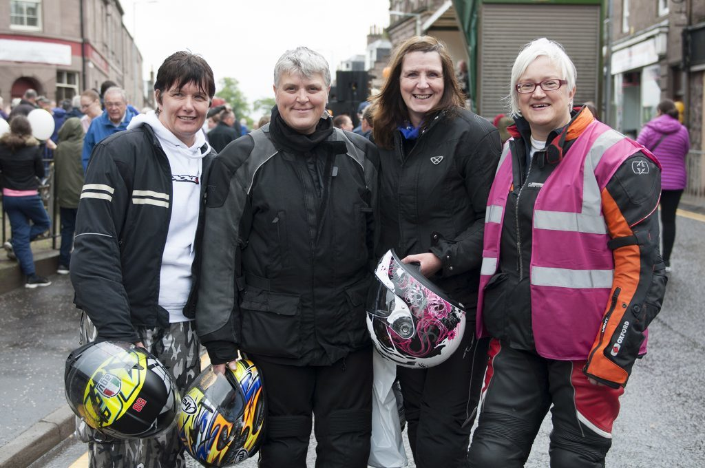 Karen Smith, Diara Jenkins, Donna Telfer and Susan Francombe from Curvy Riders.