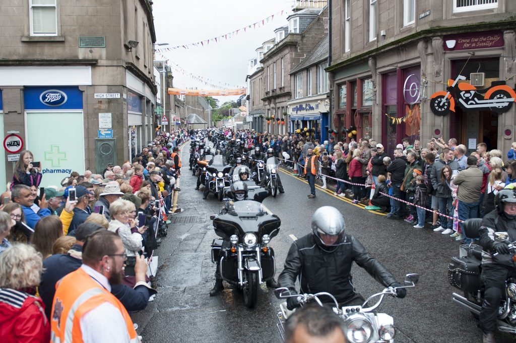 Bikers return to Brechin.