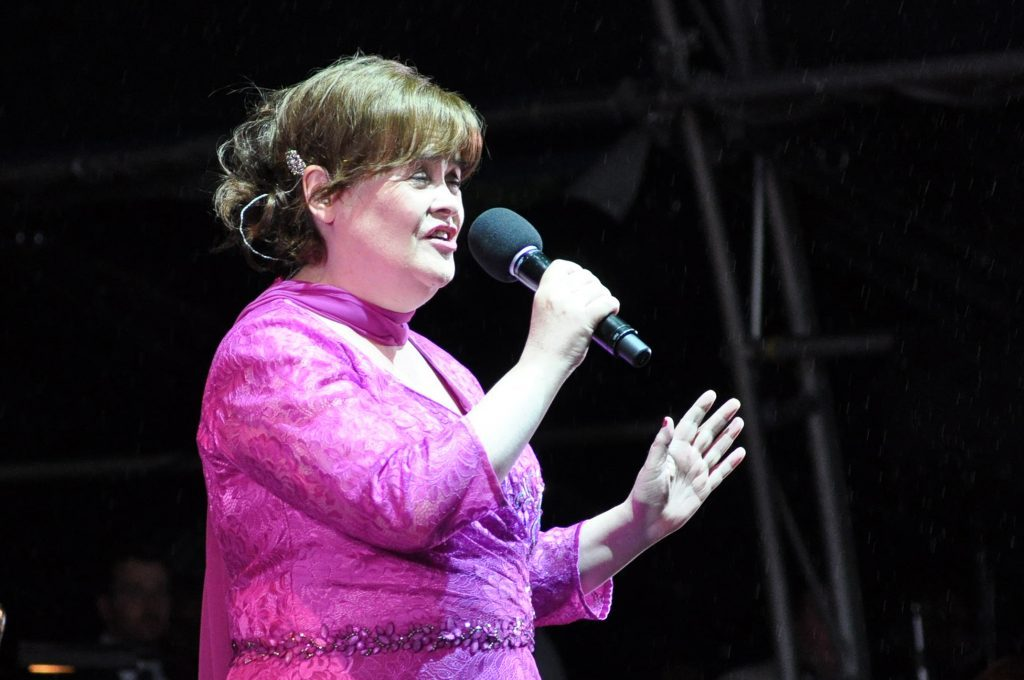 Susan Boyle performing.