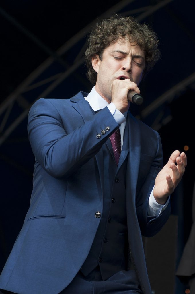 Lee Mead on stage.