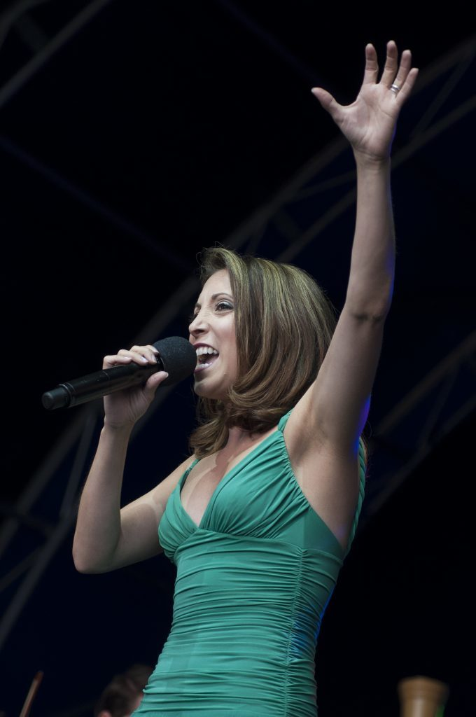 Christina Bianco  performing.
