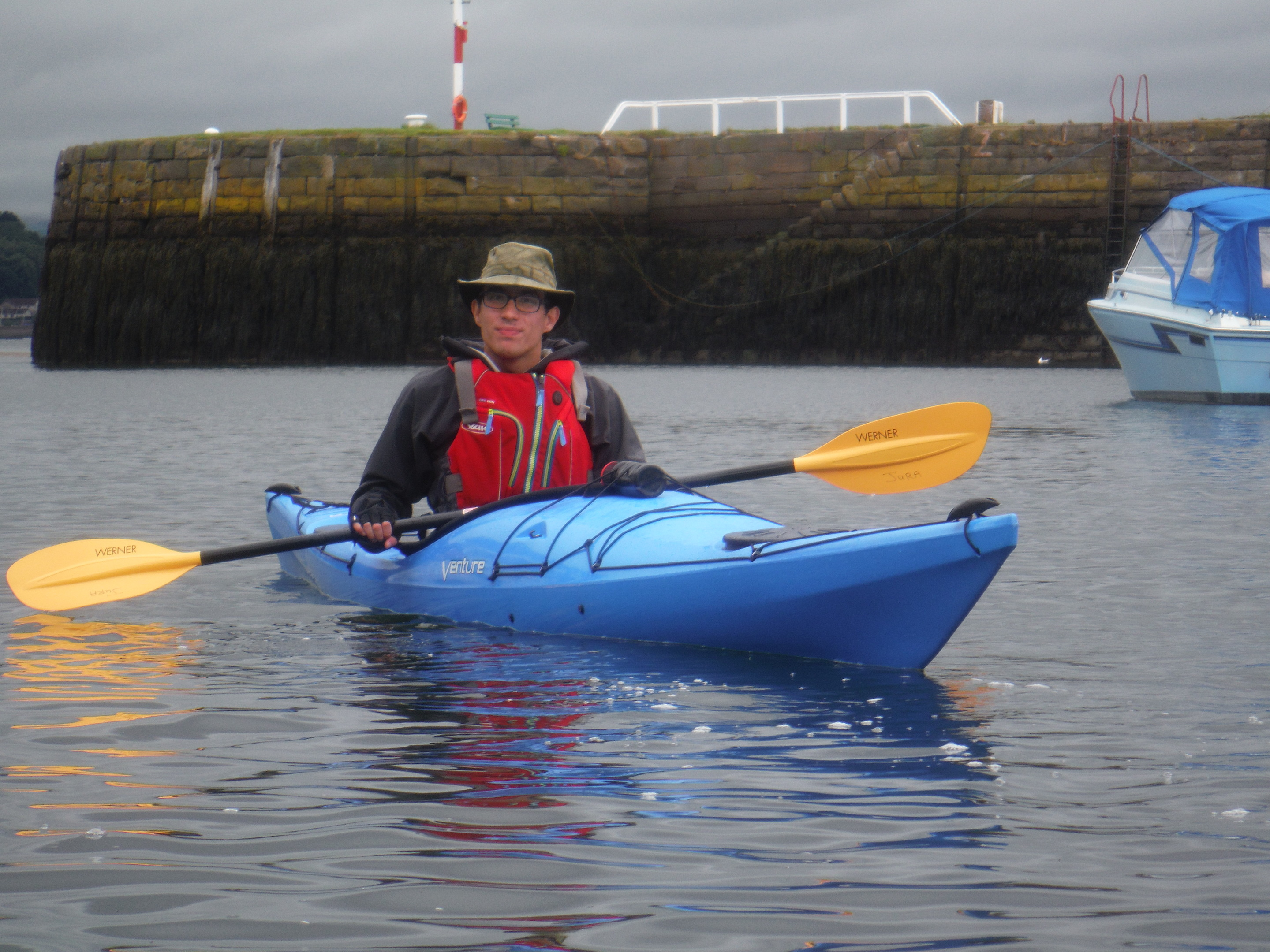Daniel Gibson's paddle has raised well over £1100 for a worthy cause so far.