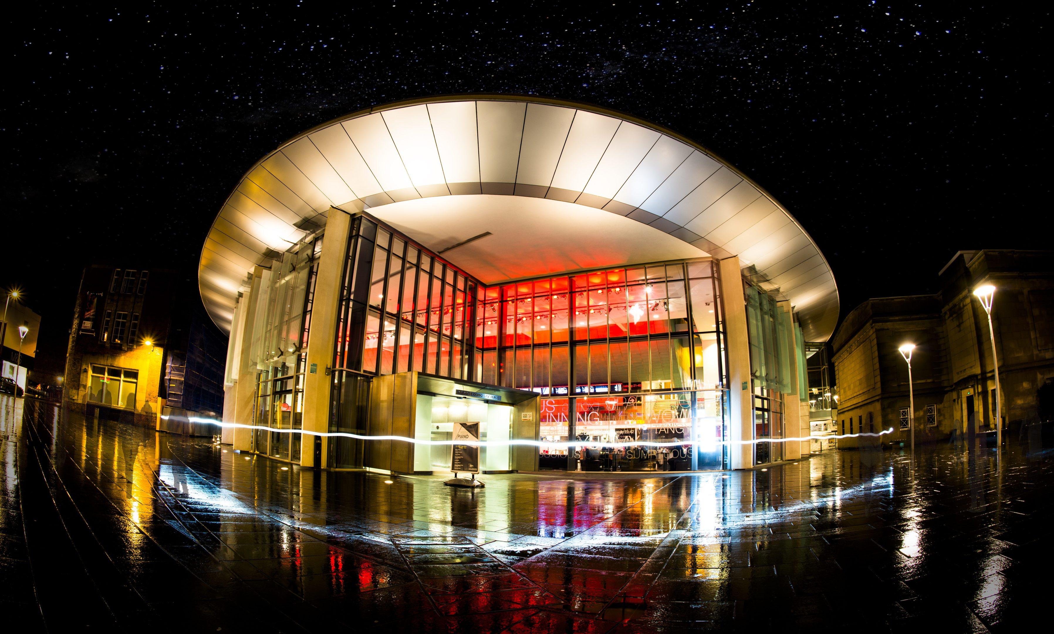 Perth Concert Hall at night