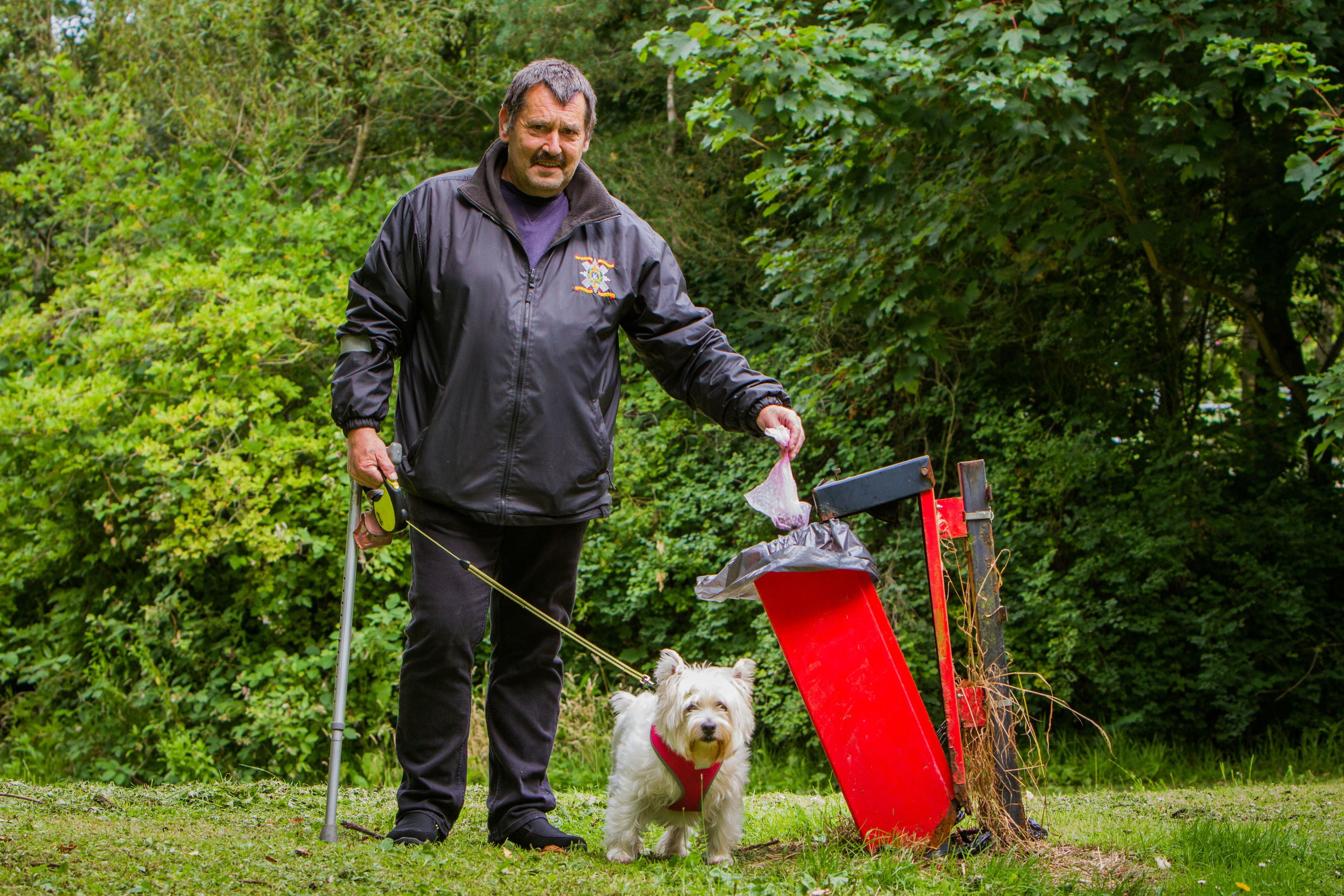 Peter Scobie and dog 'Misha'.